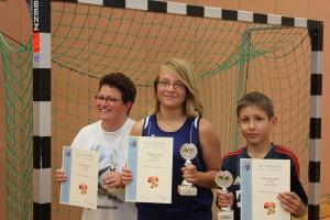 Dorfmeisterschaften 2014: 1.Platz Alina Nahrstedt, 2.Platz Moritz Kroll, 3.Platz Emillie Nahrstedt (nicht anwesend)