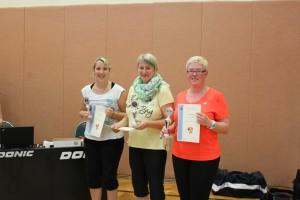 Dorfmeisterschaft 2014, 1.Platz Stefanie Zehm, 2.Platz Doreen Stute-Domagalla, 3.Platz Maria Neubauer