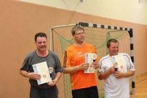 Dorfmeisterschaften 2014 1.Platz Falk Sterdt, 2.Platz Thomas Klug, 3.Platz Ronald Gloede